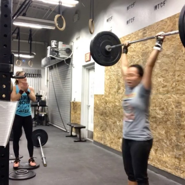 "Boxing Day WOD (CompTrain's Friday workout) Still ""piking"" on my double unders, but I PR'd my Clean & Jerk! 115# Perhaps my last PR of 2019??? #houseofhustleandmuscle #crossfit #crossfitnonprofit #crossfitgirls #womenwholift"