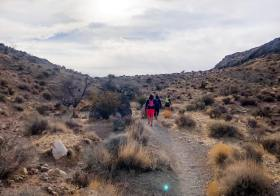 "Trail fun, part one. I forgot what this ""trail running"" was 🤪 #ultrarunners #trailrunningvegas #trailrunners #optoutside [instagram]"
