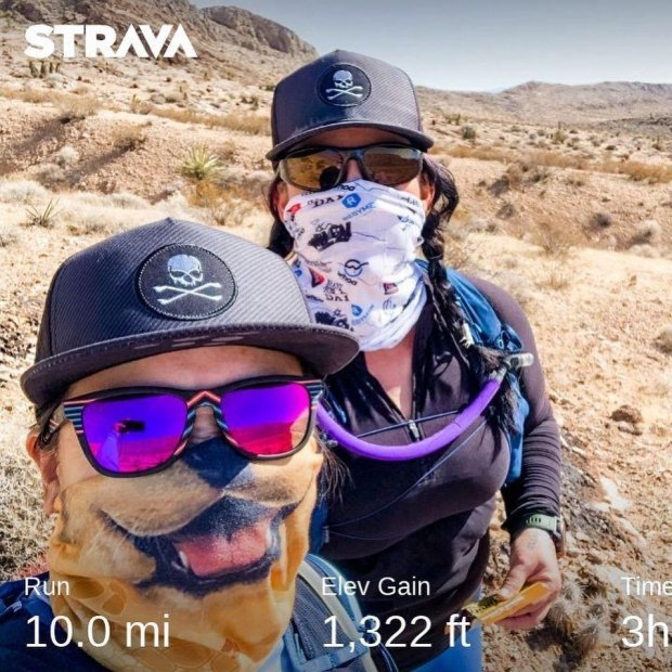 We moved Saturday's miles to a Sunday and were rewarded with amazing weather (sunny & no wind!) This was my first double-digit mileage in almost a year! The build-up is steady & purposeful. Also, we found some desert treasures (aka trash lol) that @gunsarmory will turn into cool artwork. Recovery Bath by @dolcebath702 #baseperformance #risingmountainscoaching #trailrunningvegas #trailrunners #optoutside