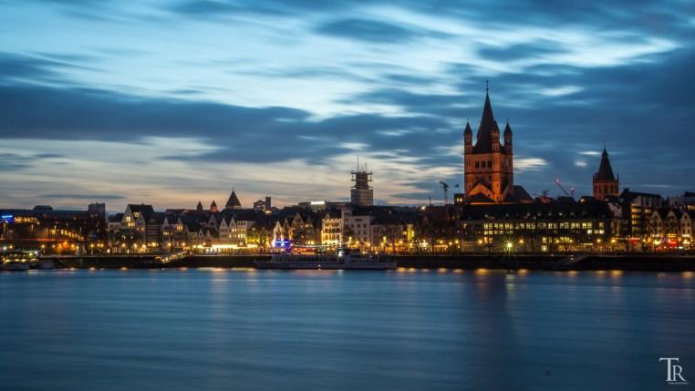 Abendstimmung am Rhein