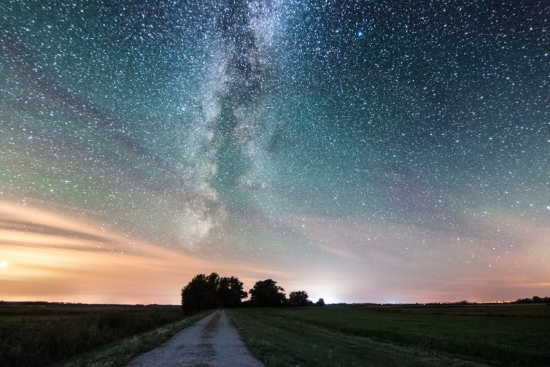 Milchstraße und Airglow im Westhavelland
