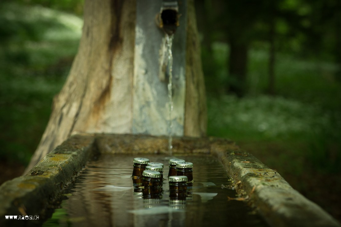 Bier im Brunnen