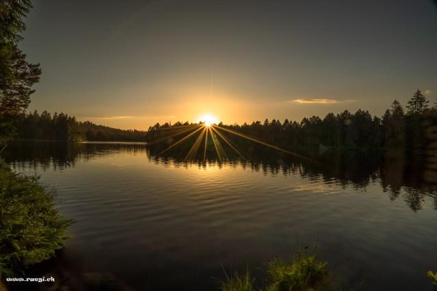 Sonnenuntergang am Ètang de la Gruére