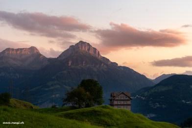 Morgenrot in Morschach