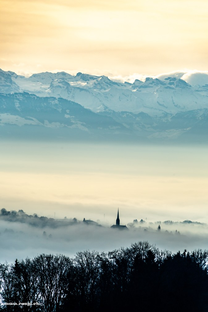 Nebelmeer auf dem Hasenberg