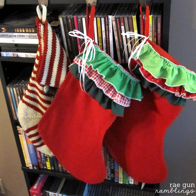 Super cute and easy ruffle stocking tutorial - Rae Gun Ramblings #christmas #diy #sewing