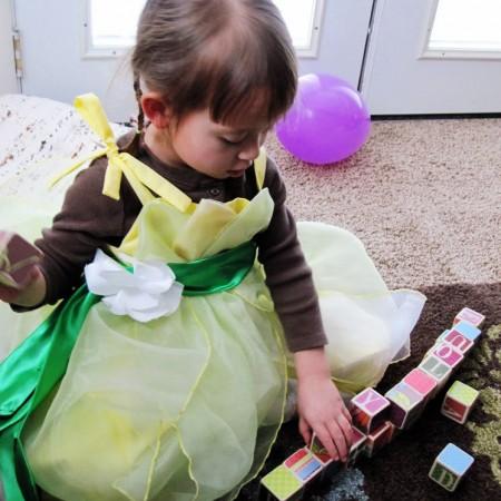 DIY princess tiana dress costume