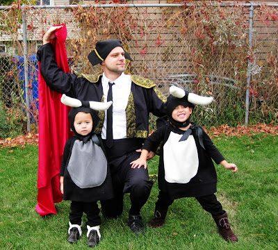 Show and Tell: Baby Bulls and Matador Costumes