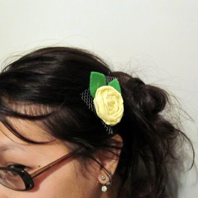 Tutorial and Giveaway: Rosette Hair Clips and Headbands