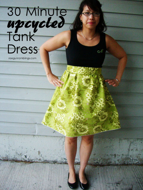 Turn 1.5 yards of fabric and an old shirt into a cute new dress in just 30 minutes - Rae Gun Ramblings