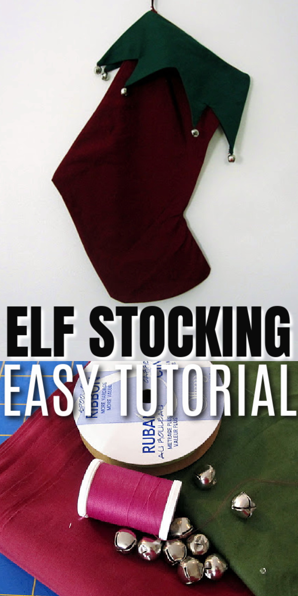 how to make an DIY elf style stocking sewing tutorial