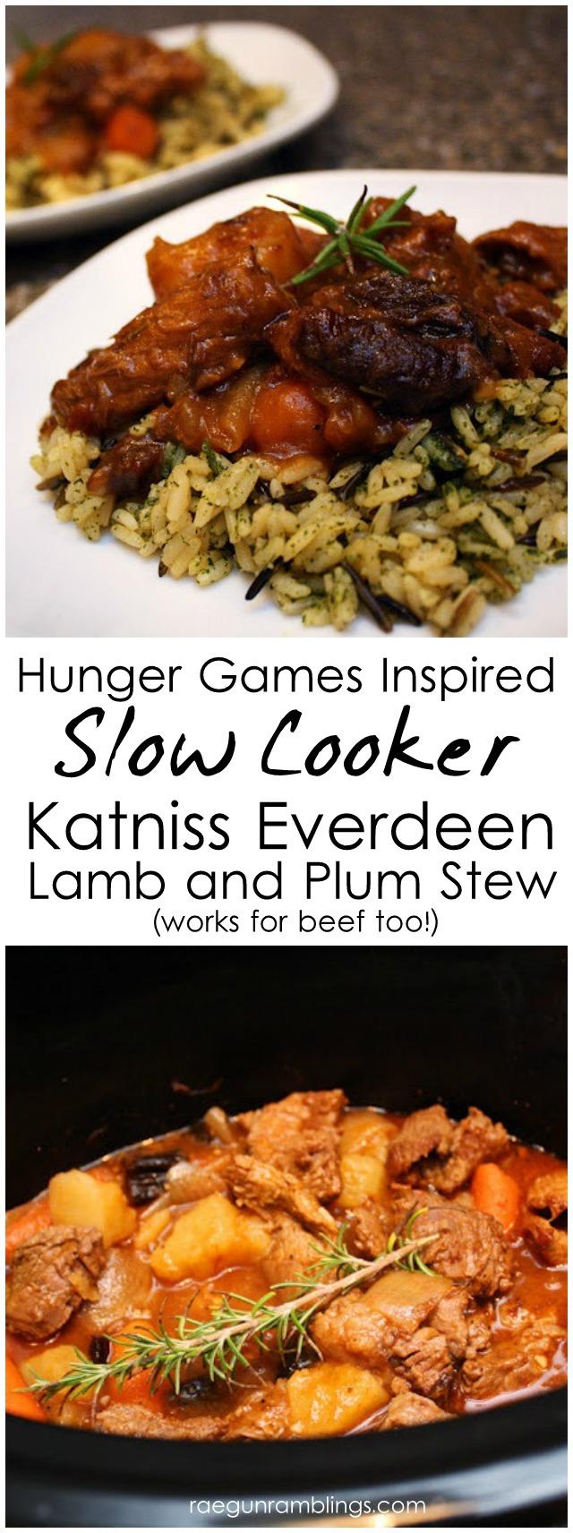 Crock Pot Recipe: Hunger Games Katniss Stew Lamb (or beef) and Plums - Rae Gun Ramblings