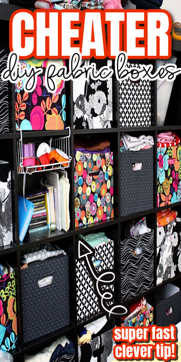 cheater fabric boxes for Ikea kallax and expedit great organizing and storage tutorial