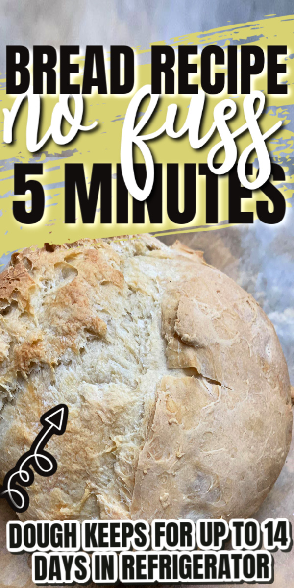 no fuss bread dough recipe perfect for loaves, rolls, pizza and more. keeps for 14 days