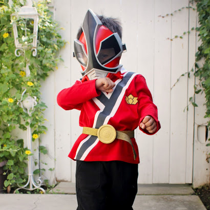DIY red ranger costume tutorial