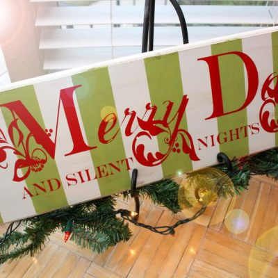 Tutorial: Stripe Merry Days and Silent Nights Sign