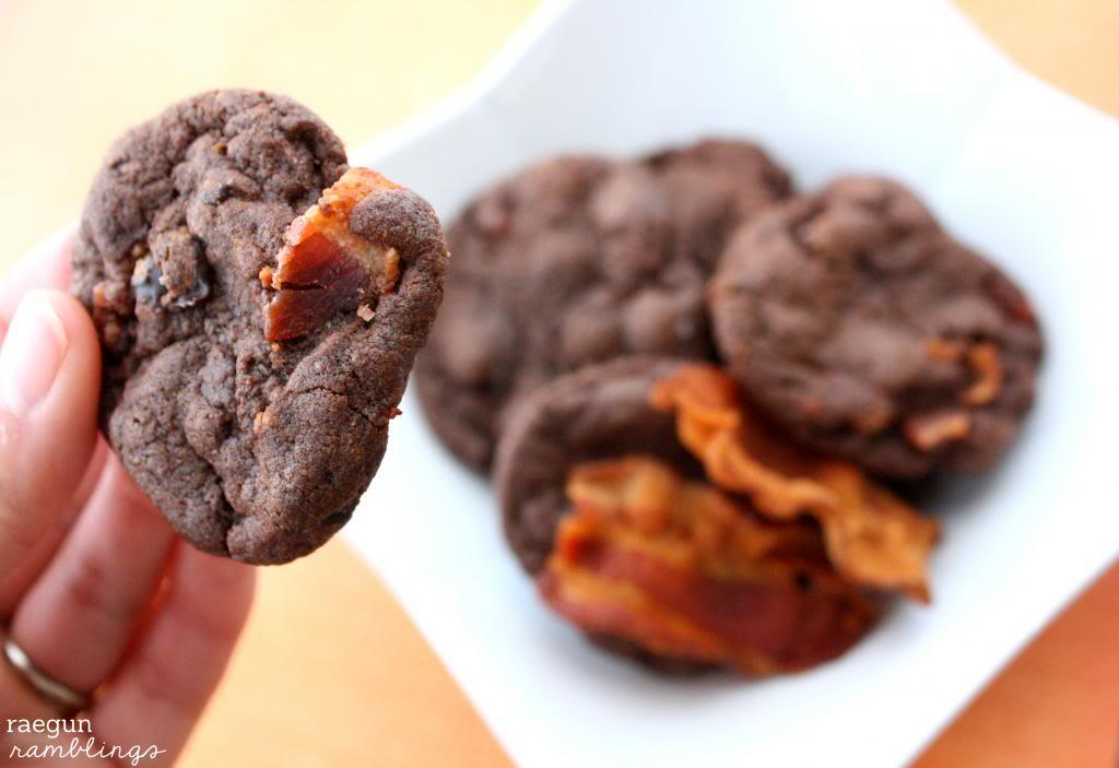 double chocolate bacon cookies