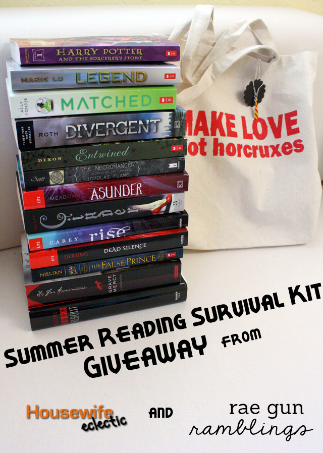 Huge giveaway for YA book lovers. Summer Reading Survival Kit from Housewife Eclectic and Rae Gun Ramblings