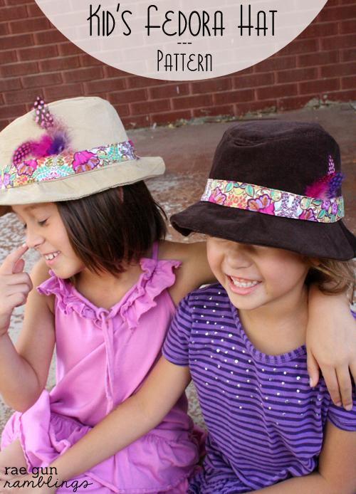 DIY Fedora hat pattern for kids - Rae gun Ramblings