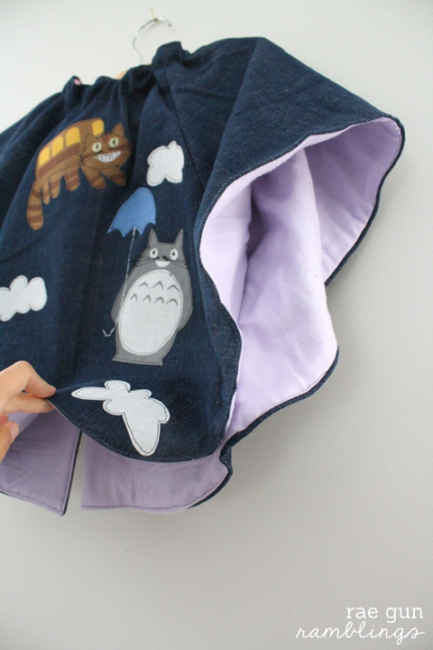 How to make and wear Totoro and Catbus on your sleeve cute tutorial from Rae Gun Ramblings