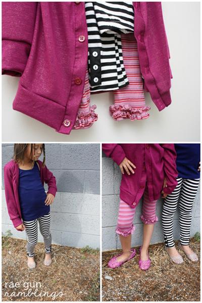 peekaboo patterns cardigan and leggins - Rae Gun Ramblings