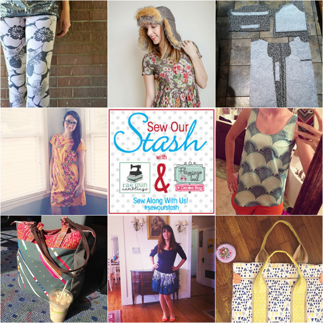 Show of your selfish sewing with Flaminigo Toes and Rae Gun Ramblings tag your pictures with #sewourstash