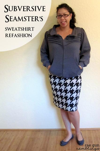 Sweatshirt refashion #upcycle #sewing #fashion - Rae Gun Ramblings