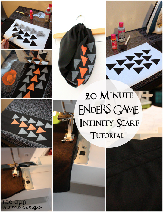 Super quick scarf great for customizing and gifts. Good beginner sewing project. - Rae Gun Ramblings
