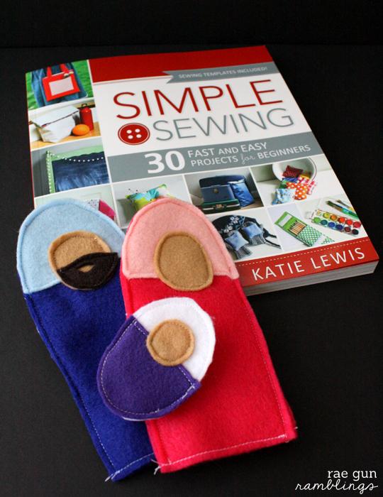Felt Nativity Puppets darling simple sewing project - Rae Gun Ramblings