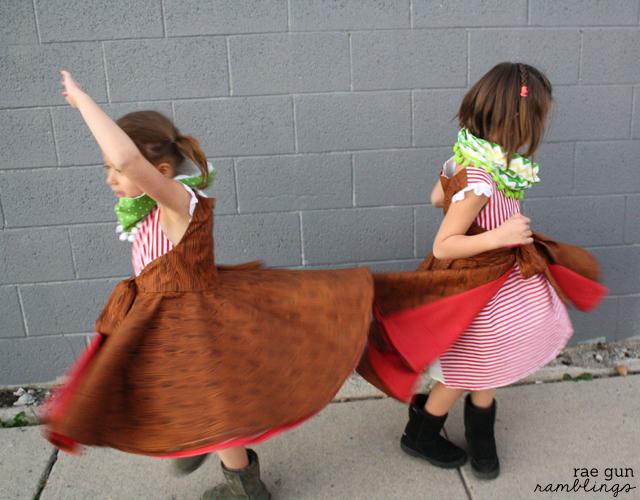 Twirl dress pattern and easy cowls - Rae Gun Ramblings