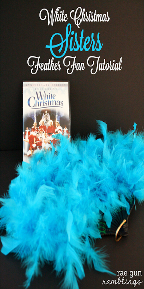 How to make White Christmas Sisters Feathered Fans