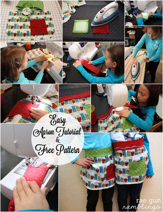Free child's apron pattern and step by step instructions at Rae Gun Ramblings