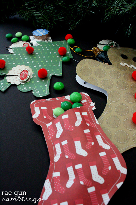 Christmas Paper Packages Tutorial . Great for using up your scrapbooking stash - Rae Gun Ramblings #papercraftedchristmas