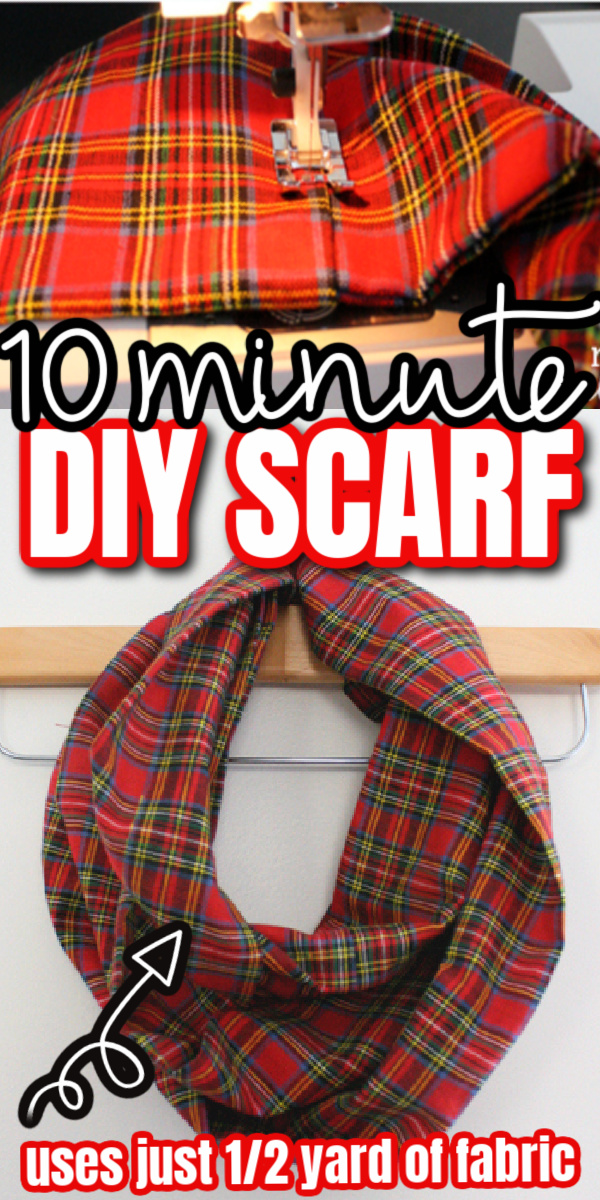 sewing fabric and scarf