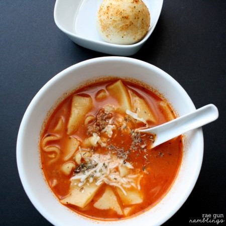 Absolutely delicious and easy lasagna soup recipe for the crock pot