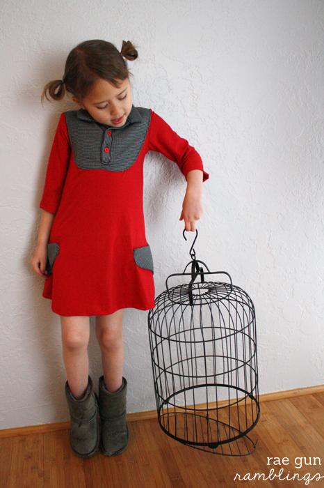 Darling kids dress and heart pocket tutorial - Rae Gun Ramblings