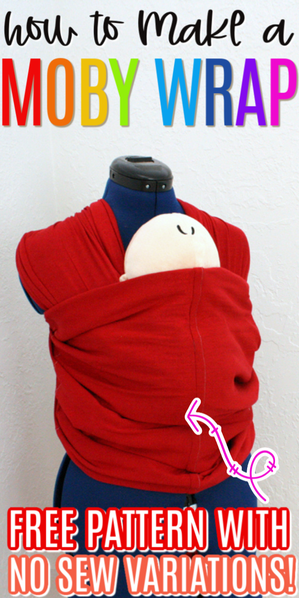 How to make a Moby wrap baby carrier free pattern with no sew option. Works great we had a real one and this just as good and way cheaper!