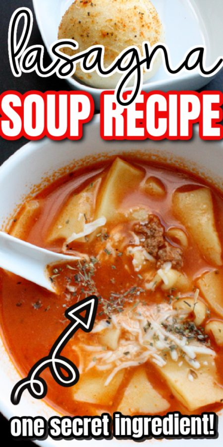 bread and lasagna soup