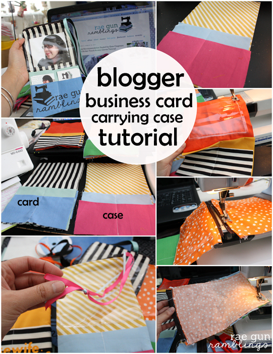 Step by step instructions to making a user friendly blogger business card case perfect for taking to conferences and networking opportunites - Rae Gun Ramblinbs