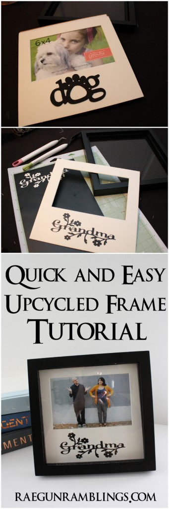 Cute idea for Mother's Day. Upcycle a frame. Tutorial at Rae Gun Ramblings