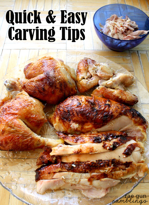 Easy step by step instructions on how to proerly cut a chicken or turkey so it looks nice but also to get the most meat out the fastest you can. via Rae Gun Ramblings