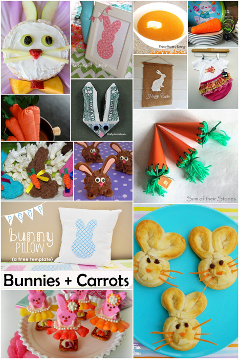 Darling and delicious bunny and carrot projects just in time for Easter and Spring - Rae Gun Ramblings