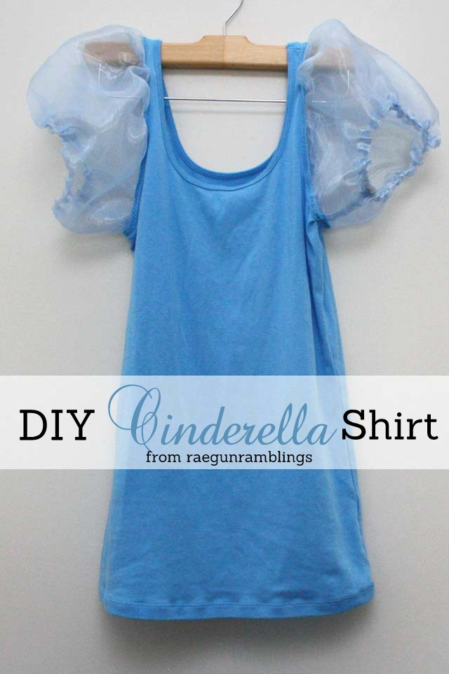 Upcycled cinderella shirt tutorial from Rae Gun Ramblings