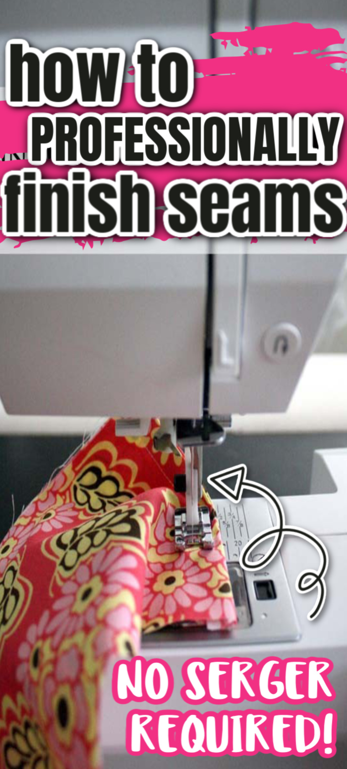 The best way to professionally finish seams on a sewing machine