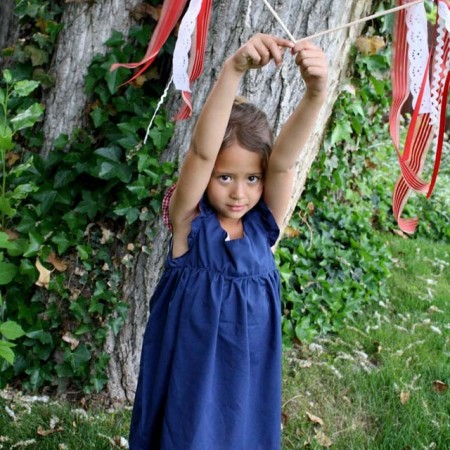 Make festive wands of ribbon and craft scraps to celebrate the Fourth of July - Rae Gun Ramblings