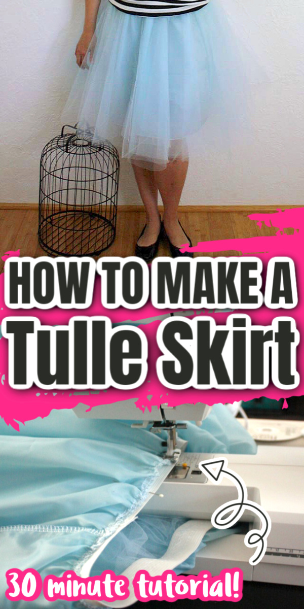 30 minute Tulle Skirt tutorial with full set by step sewing instructions