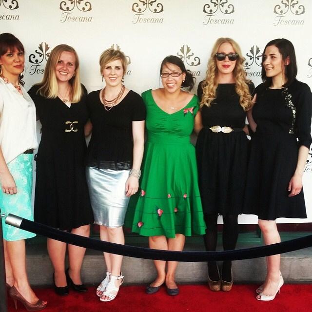 Bloggers hit Cucina Toscana in SLC. Green Dress from eshakti - Rae Gun Ramblings