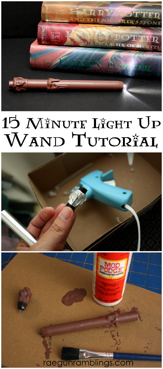 Super fast and easy Harry Potter Wand tutorial. It actually lights up! Rae Gun Ramblings