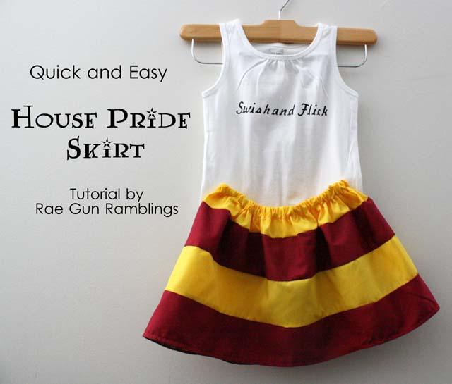 Cute 20 minute skirt tutorial - Rae GUn Ramblings