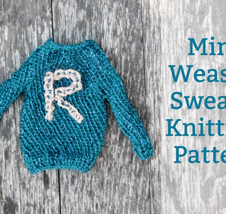 Free Mini Ronald Weasley Sweater Knitting Pattern #harrypotter - Rae Gun Ramblings
